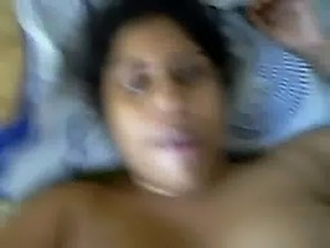 Hot Indian Busty Aunty earting her Partner's Cum after fuck