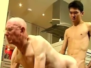 Old man fuck boy