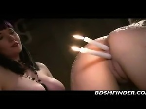 Lesbian Bondage And Hot Wax