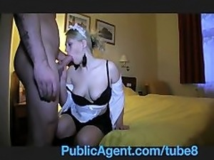 PublicAgent Anna Kournikova look a like fucked in maids outfit