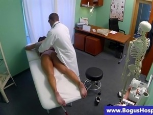 Sexy patient shows ass to doctor and wants more