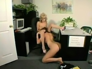 Lesbians Licking Pussy In The Office