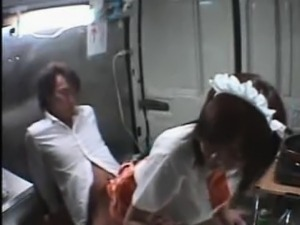 Asian Teen Fucked in a Mobile Canteen!