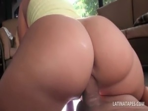 Blonde latina gets pussy drilled from her back in POV free
