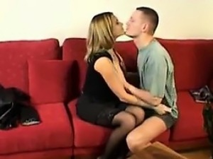 Couple From France Fucking On The Couch