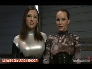 TS Eva Cassini, Latex and Katie Ives Fucking in the Sci-Fi Future free