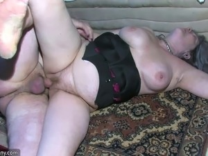 Chubby Grannma and her girlfriend BBW Nurse have big fun