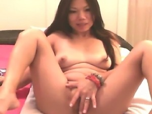 This Asian slut really loves to play her pussy with her most favorite sex...