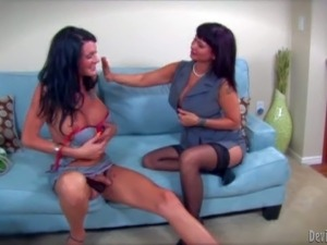 Carrie Ann is a lady that has unforgettable sex with horny tranny Morgan...