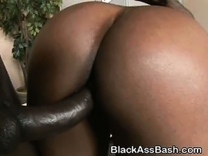 Big Titty And Ass Black Girl Doggystyled In Threesome