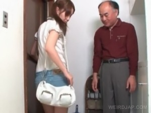 Innocent asian schoolgirl talked into sex by old guy free