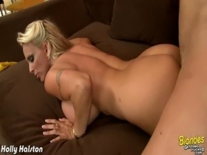 Blonde Holly Halston gets big tits fucked free