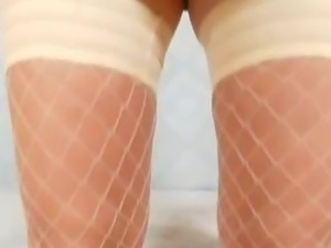 Teenie Grace piss hole spreading closeups