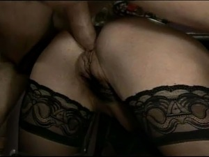 Blonde milf adores to be anally fucked by younger stiffed dick guys