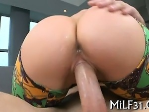 Horny darling gives wild riding
