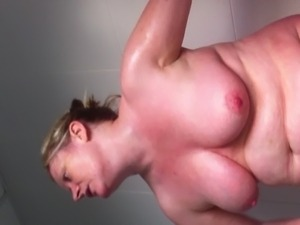 watch her tits and belly wobble