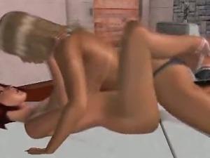 3D animation lesbians