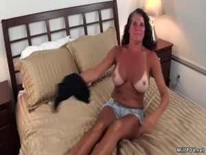 Busty Texas MILF with tan lines free