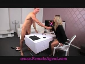 FemaleAgent Smoking hot new female agent seduces stud free