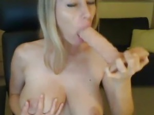 Horny Milf Playing With Her Huge Dildo