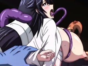 Hentai girls gets caught and fucked by monsters