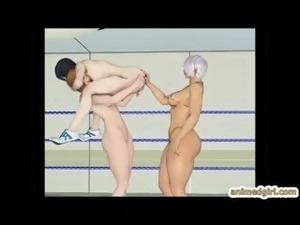 3D hentai smackdown in the ring