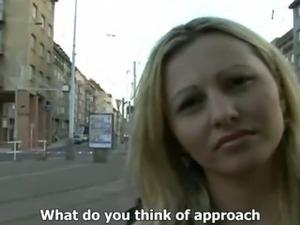 CZECH STREETS - Ilona takes cash for public sex
