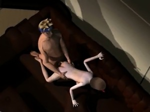3D brunette sucks cock and gets fucked by Naruto