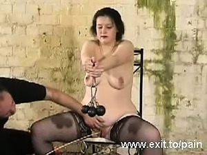 Bizarre punishments Slave Emma in Dungeon