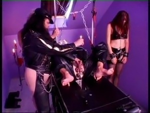 Mistress loves fooling around both with male and female slaves