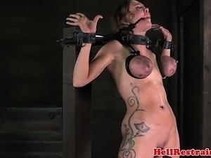 Tit penalized ball gagged bdsm sub punished