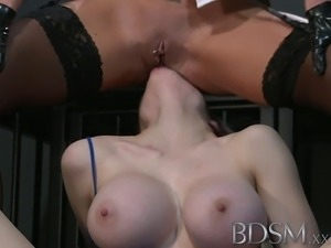 Horny sub with massive tits lets Mistress into her darkest secrets before the...
