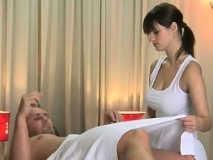 Awesome brunette gives a sensual part5