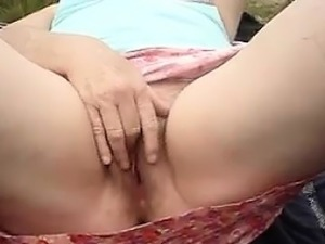 Horny Mature Couple Outside At The Park