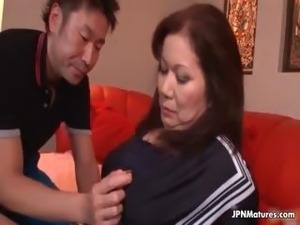 Sexy and horny Japanese mature mom part6