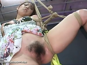 Ayumi, a very cute Japanese pain slut, is bound in a dungeon endures extreme...