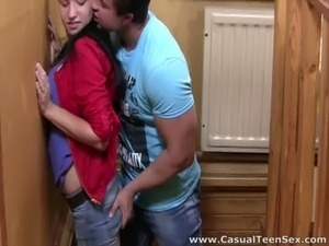 Casual Teen Sex - Hot teen sex on wooden table free
