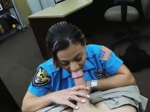 The lady police officer sucked him off