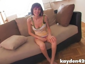 Real POV video with hottie getting her feet fucked