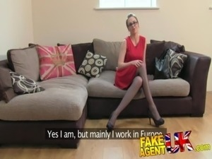 FakeAgentUK Creampie for hot european girl that loves rimming free