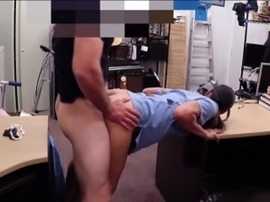 Sexy nurse wanted to sell her old teapot and gets pounded