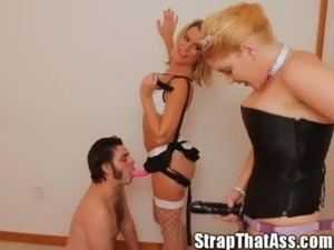 Aaron Gets a Double Girlie Dicking From Ms. Carly and the StrapOnPrincess free