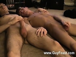 Gay fuck Jared is nervous about his first time stroking on