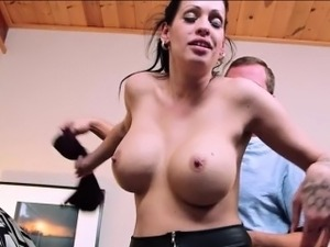 Gorgeous Kelly Summer gets her large tits fucked and wet pus
