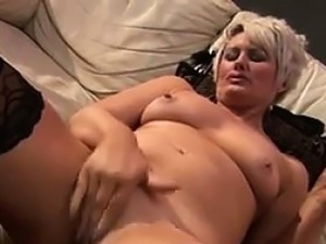 Chubby Mother Masturbating With Her Toy