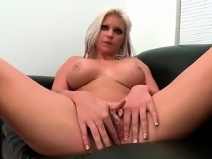 Nasty blonde slut gets horny taking part5