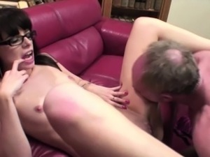 Old and young guys rough sex with petite
