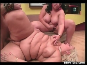 Amateur fat orgy involving two large free