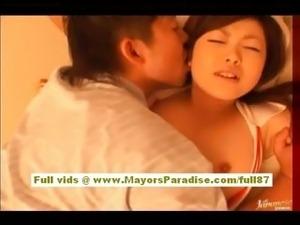 Rio Hamasaki asian nurse in uniform gets pussy licked