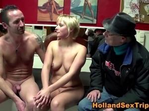 Dutch prozzie gets cum